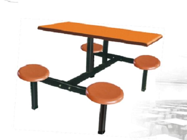 四人玻璃钢餐桌