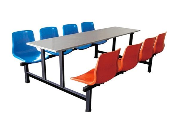 员工食堂八人不锈钢餐桌椅