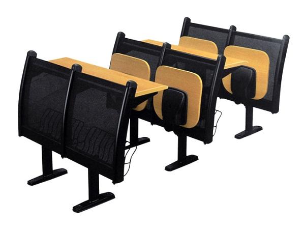 中腿网背固定单板联排椅