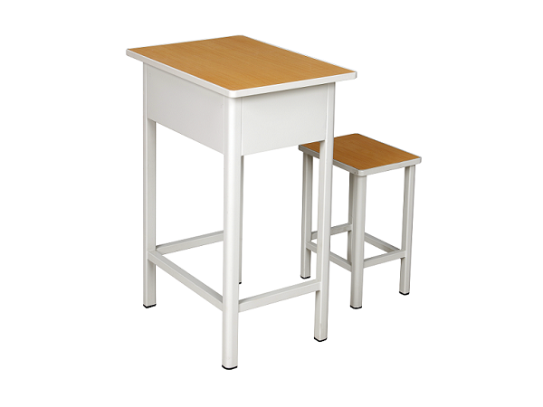 单人四腿课桌凳