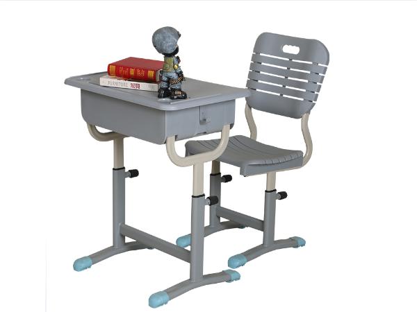 ABS旋钮升降课桌椅