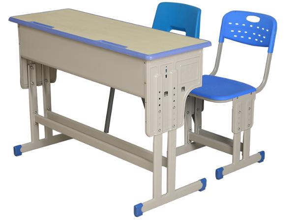 双柱双撑双人课桌椅